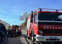 Visita bombers Escola Arboç