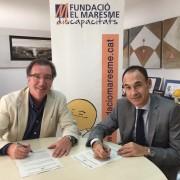 signatura conveni Fund.La Caixa - Fund. el Maresme
