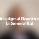MISSATGE AL GOVERN DE LA GENERALITAT