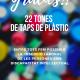 agraïment taps de plàstic