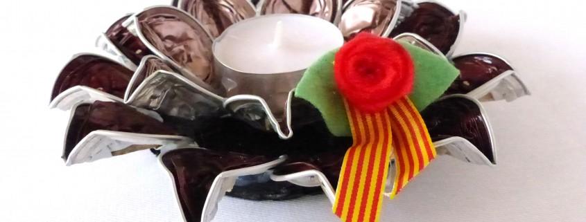 espelma centre de taula sant jordi