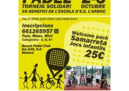 torneig de pàdel solidari_ampa escola arboç_fundació el maresme